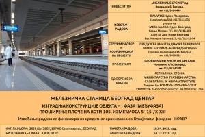 Železnička stanica Beograd Centar - Početak izvođenja radova Međufaze