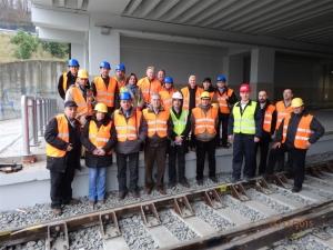 Šefovi svih sekcija Železnice Srbije u stručnoj poseti gradilištu Beograd Centar