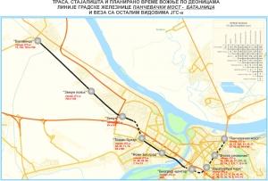 Uspostavljanje linije gradske železnice Pančevački most - Batajnica